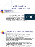 Historical Institutionalism, Political Development and the Presidency (1)