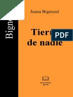 Juana Bignozzi. (2015) Tierra de nadie.pdf