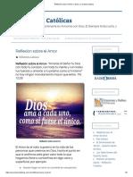 Reflexión sobre el Amor a Dios y a nuestro prójimo - copia.pdf