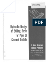 Hydraulic design of stilling basin and energy dissipator