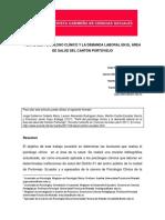 2017.Fchs. Perfil Del Psicologo Clinico y La Demanda Laboral en El Area de Salud Del Canton Portoviejo