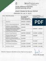 Tentative DDE NALSAR Academic Calender 2019-20-1 1