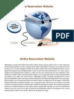 Airline Reservation Website