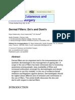 Dermal Filler do and don't