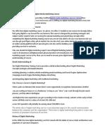 Certified Digital Media Marketing Course