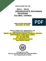Global Ugrad Prog Appl 2011