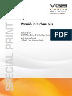 Varnish in Turbine Oils
