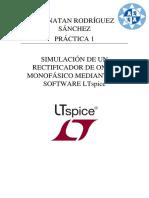 Simulacion rectificador media onda LTSpice