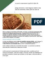 Ces aliments que l'on peut consommer après la date de péremption _ Santé Magazine