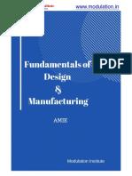 Fundamentals of Design & Manufacturing Notes-Amie Sec A