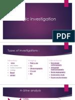 Urologic investigation