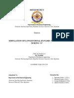 Aircraft Dynamics Longitudinal Mode Simulation