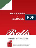 BATTERIES - MANUEL. Procédures de Charge, d'Égalisation Et de Maintenance Préventive Recommandées Pour Les Batteries Rolls.