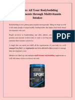 Best Multivitamin for Bodybuilding