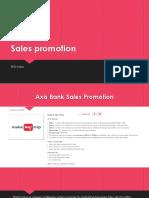 Sales Promotion - BFSI