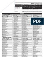 Listes complètes des candidats acceptés telles que publiées par ELECAM