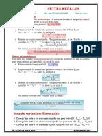 Cours -3eme Annee Secondaire-maths-suites Reelles-