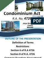 Condominium-Act presentation