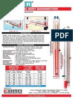 Acrylic U tube manometer