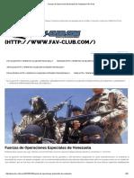 Fuerzas de Operaciones Especiales de Venezuela _ FAV Club