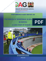 Provision of Sewerage in Major Town-A Case of Nairobi City County