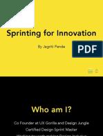 Design Sprint workshop by Jagriti Pande
