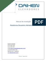 Manual de Instalação. Plataforma Elevatória Hidráulica AC11