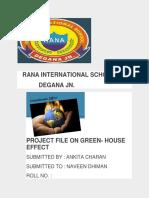greenhouse effect - Project word ankita