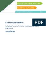 BA MA OTM Call for Applications 2020 2021