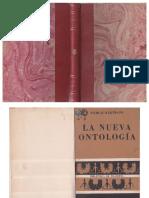 La Nueva Ontologia - N. Hartmann