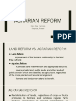 AGRARIAN-REFORM
