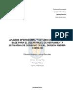 analisis operacional consumo de cal