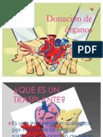 presentación  Donacion de organos