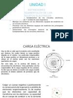 Clase I Unidad I definiciones de circuitos