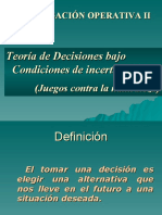 Teora de Las Decisiones
