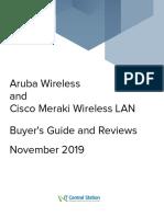 Aruba Wireless vs. Cisco Meraki Wireless LAN Report From IT Central Station 2019-11-04