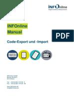 INFOnline Manual Code-Export Und -Import