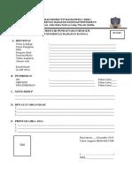 Formulir Pendaftaran Anggota BEM
