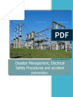 Disaster Management, Electrical Safety Procedures and Accident Prevention
