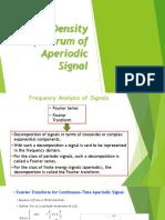 Energy Density of Aperiodic Signals