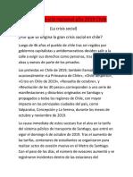 La Crisis Social 2019 Trabajo Lenguaje Espinozas