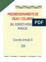 PREDIMENSIONAMIENTO VIGAS Y COLUMNAS
