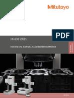 Mitutoyo - Twardościomierze Rockwell HR-600 - PRE1514 - 2019 EN