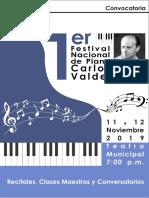 2019 Festi Piano convocatoria y afiche