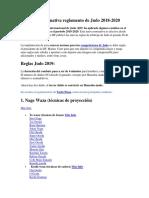 reglamento de judo nuevo 2020
