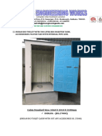 DETAILS OF ALL TYPE OF BIO TOILET