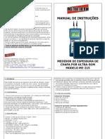 Manual de Instruções Do Medidor _ ME-215 INSTRUTHERM