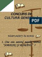 Concurs Cultura Generala Scoala Altfel