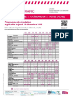 Info Trafic Axe i _ Tours-Vendôme-châteaudun-Voves (Paris) Du 19-12-2019