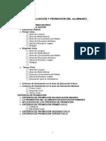 PROCEDIMIENTOS Y CRITERIOS DE EVALUACION Y PROMOCION